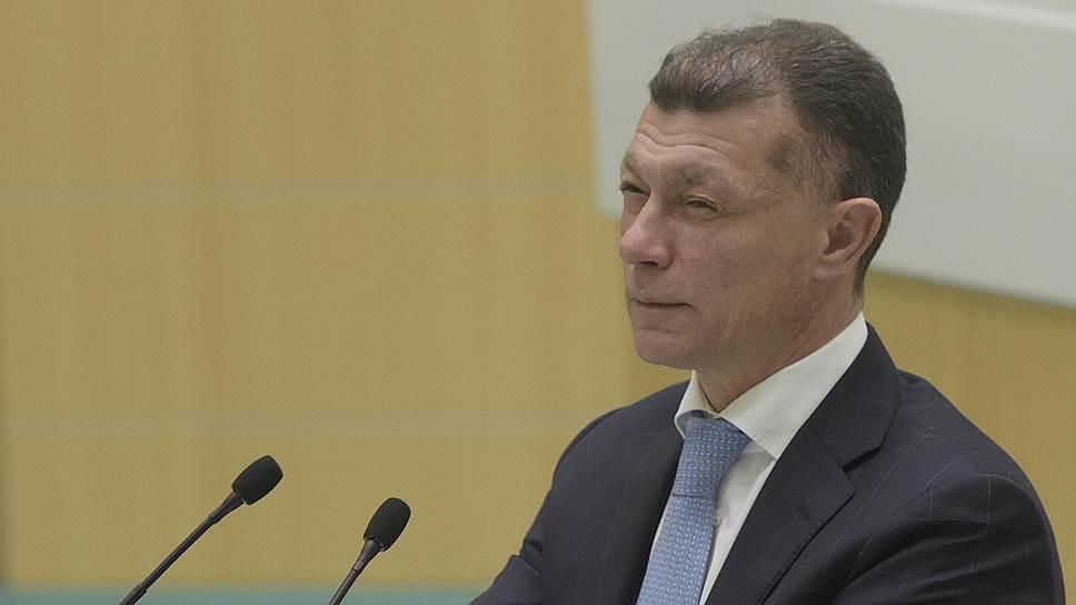 Министр труда и социальной защиты Максим Топилин