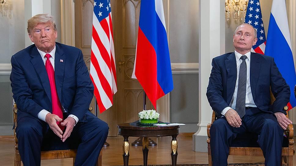 Президенты США и России (Дональд Трамп) и Владимир Путин