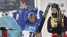 Александр Логинов финишировал вторым в спринте на этапе Кубка мира по биатлону