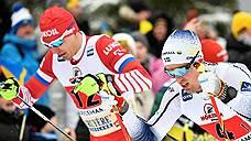 Российские лыжники завоевали золото и серебро в эстафете на этапе Кубка мира