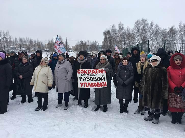 Митинг против строительства мусоросжигательного завода под Казанью