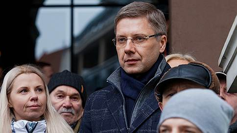 Мэр Риги выступил на митинге в свою защиту