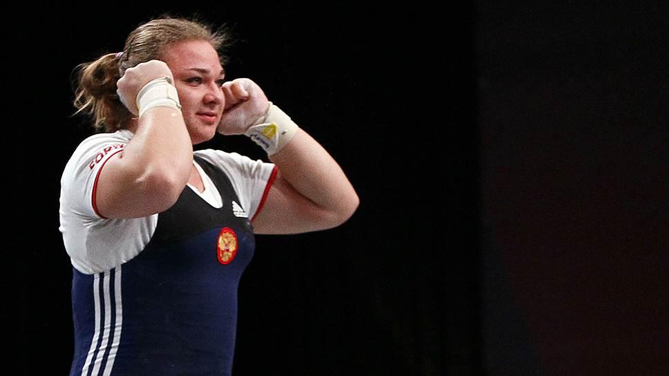 Тяжелоатлетка Татьяна Каширина