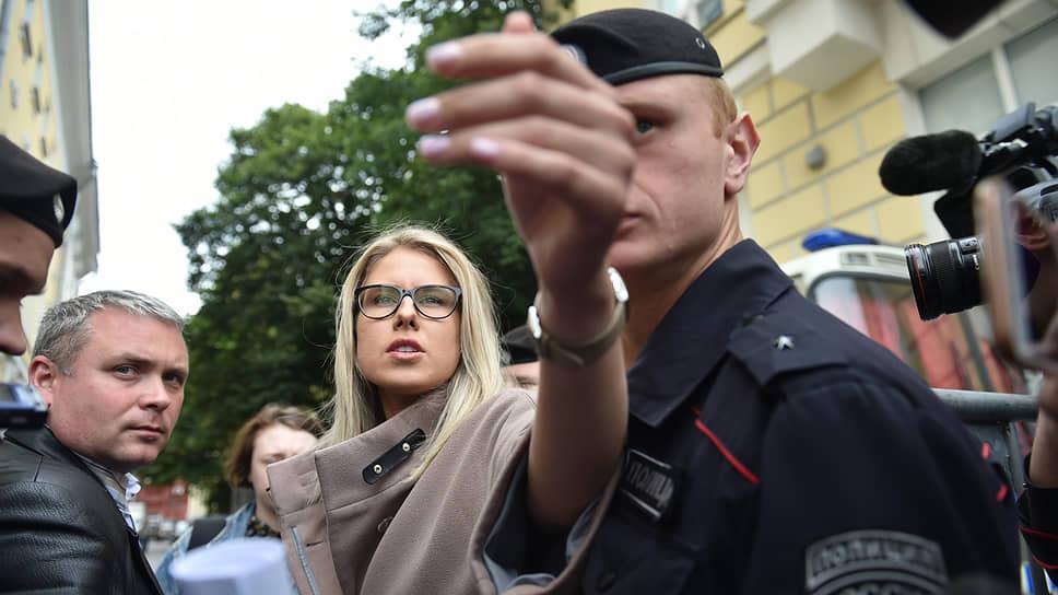 Кандидат в депутаты Мосгордумы Любовь Соболь