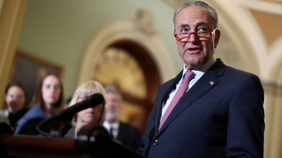 Лидер демократов в Сенате США Чак Шумер