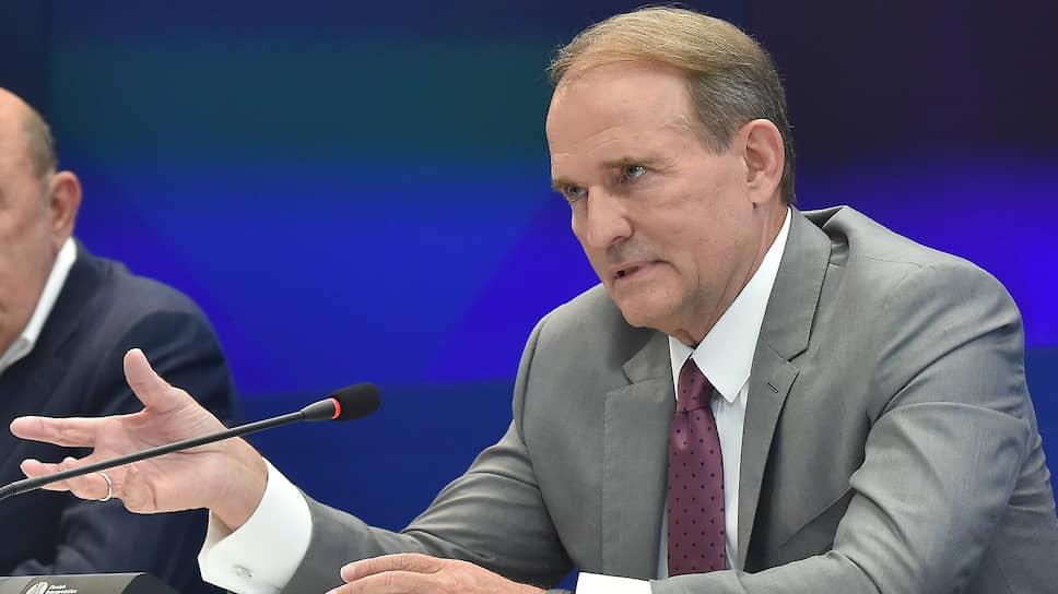 Глава политсовета партии «Оппозиционная платформа — За Жизнь» Виктор Медведчук