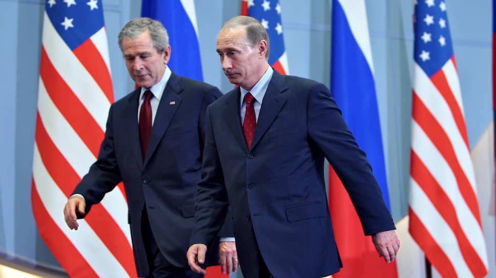 Президент США Джордж Буш и президент России Владимир Путин