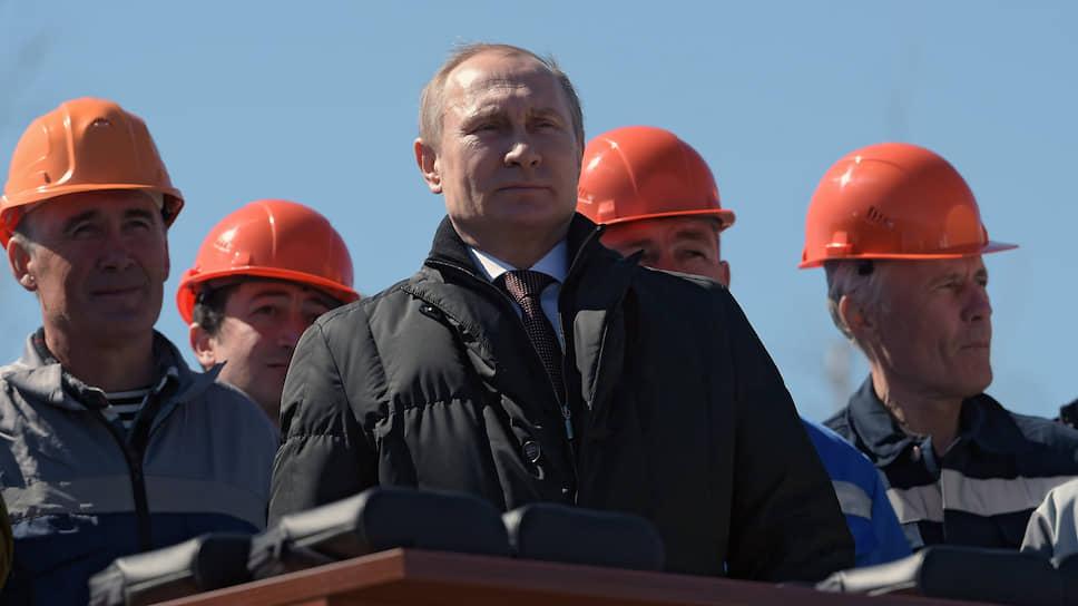 Президент России Владимир Путин во время посещения космодрома Восточный