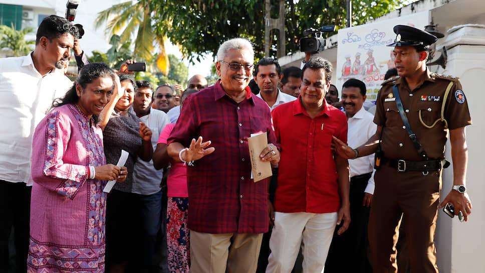 Кандидат в президенты Шри-Ланки Готабая Раджапакса