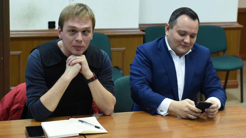 Журналист Иван Голунов (слева) и адвокат Сергей Бадамшин