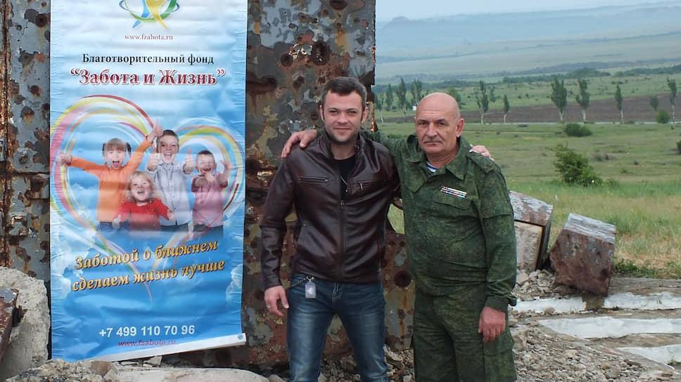 Бывший командир ПВО в городе Снежное Владимир Цемах (справа)