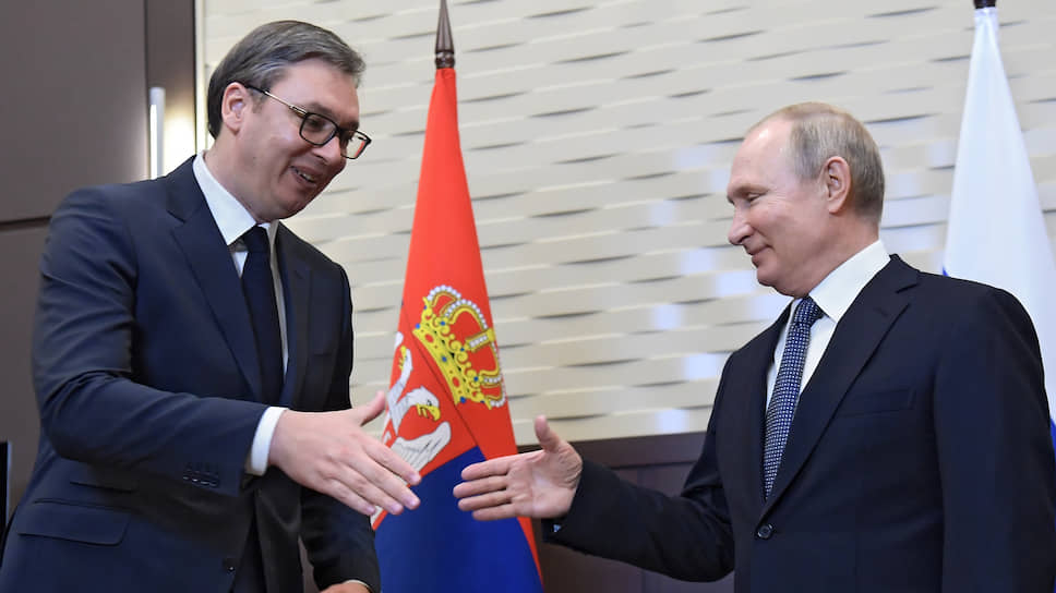 Президент Сербии Александр Вучич и президент России Владимир Путин