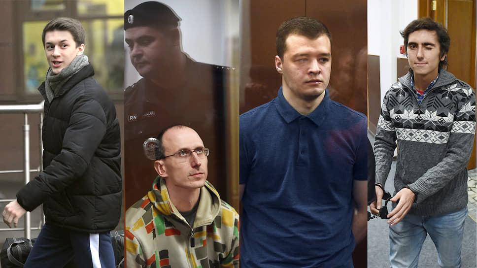 Слева направо: Егор Жуков, Павел Новиков, Никита Чирцов, Владимир Емельянов