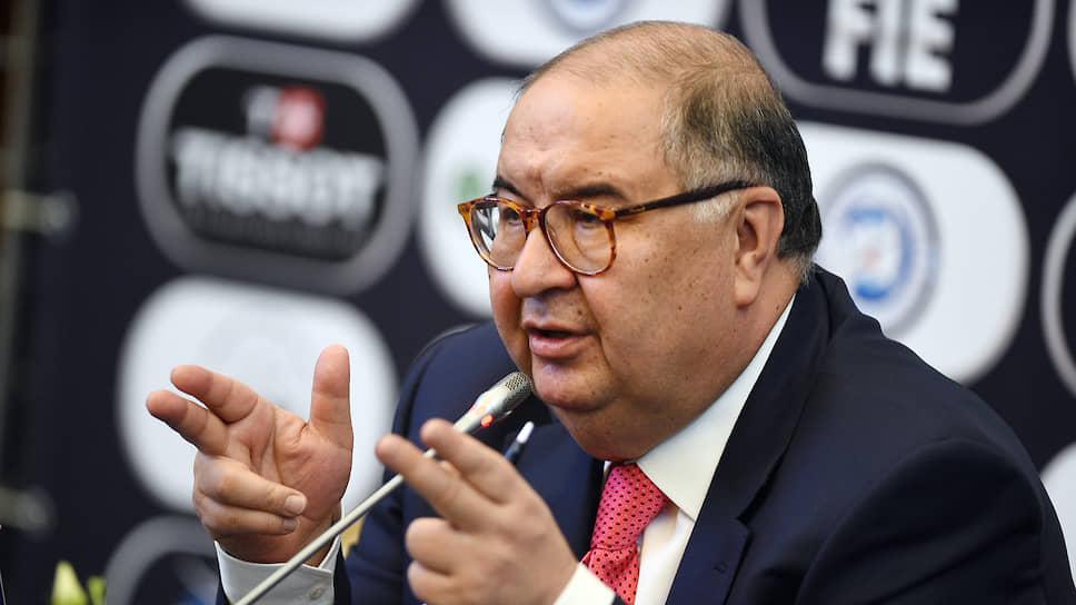 Предприниматель, президент Международной федерации фехтования Алишер Усманов