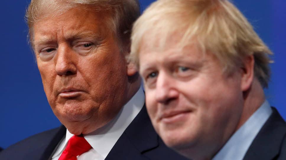 Президент США Дональд Трамп (слева) и премьер-министр Великобритании Борис Джонсон