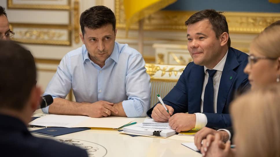 Президент Украины Владимир Зеленский и бывший глава его администрации Андрей Богдан