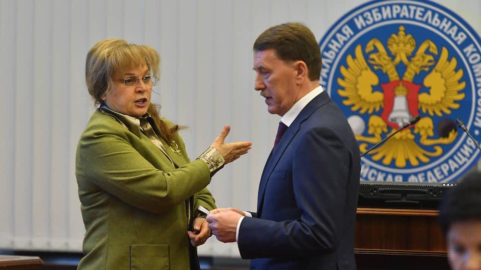 Председатель Центризбиркома Элла Памфилова и депутат Госдумы от «Единой России» Алексей Гордеев
