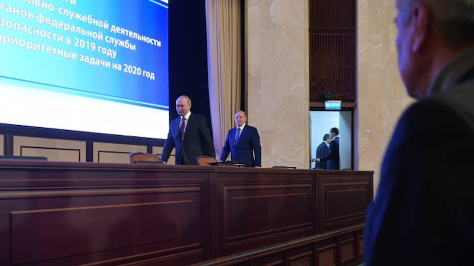 Президент России Владимир Путин (слева) и директор ФСБ Александр Бортников