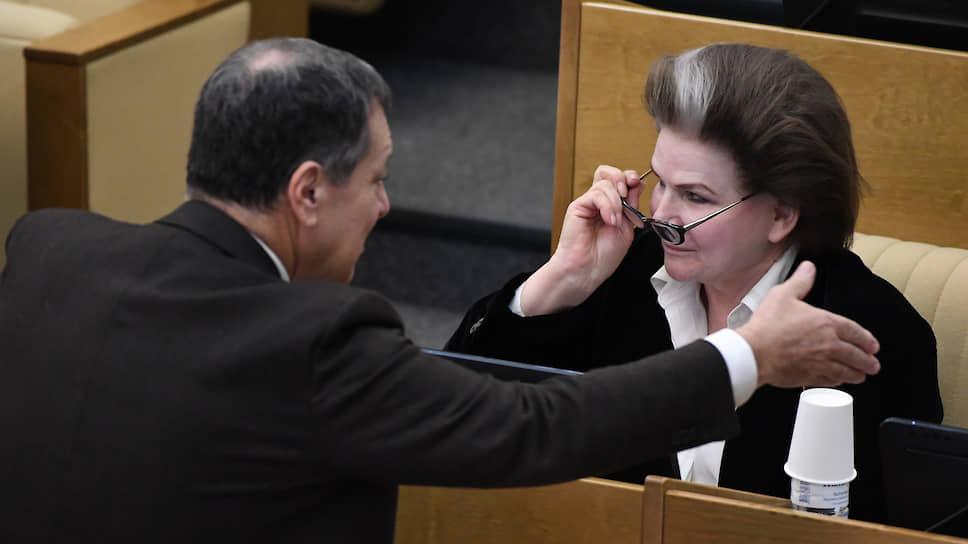Депутат Госдумы Валентина Терешкова