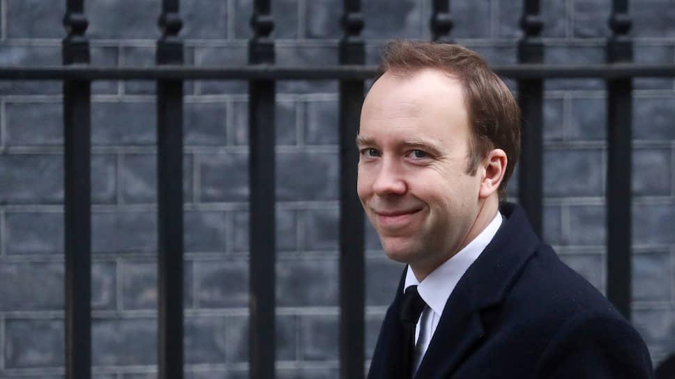 Министр здравоохранения и социальной защиты Великобритании Мэттью Хэнкок