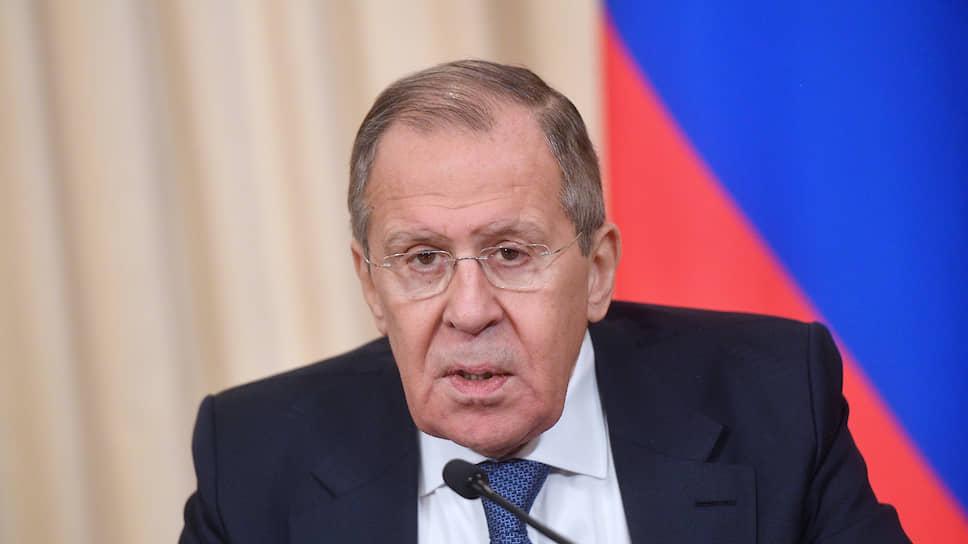 Глава МИД РФ Сергей Лавров