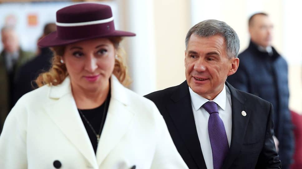 Президент Республики Татарстан Рустам Минниханов с женой Гульсиной