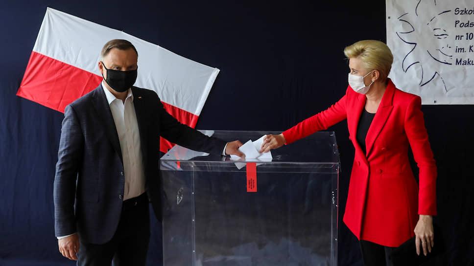 Президент Польши Анджей Дуда и его жена Агата Корнхаузер-Дуда