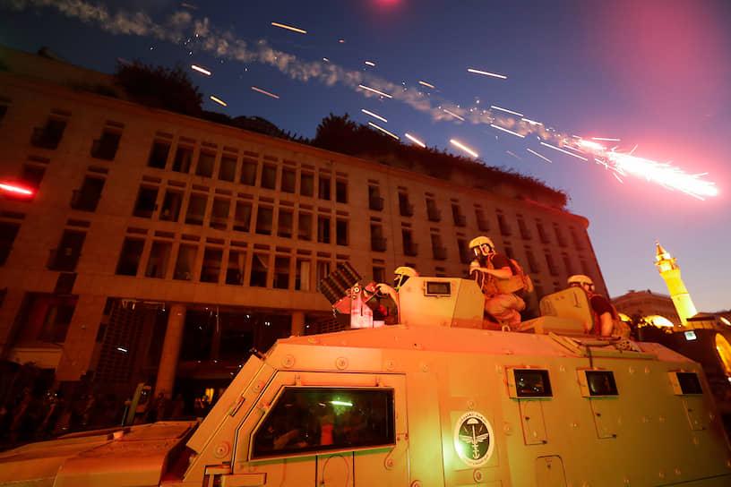 Силовики, стянутые в Бейрут для подавления беспорядков