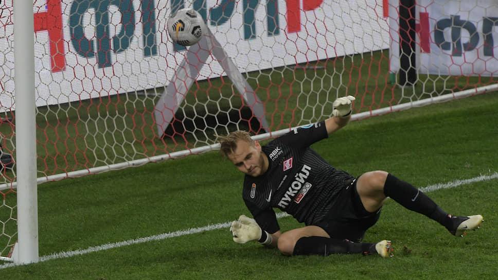 Вратарь «Спартака» Александр Максименко