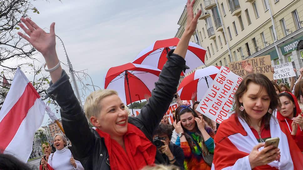 Член координационного совета оппозиции Белоруссии Мария Колесникова (в центре)