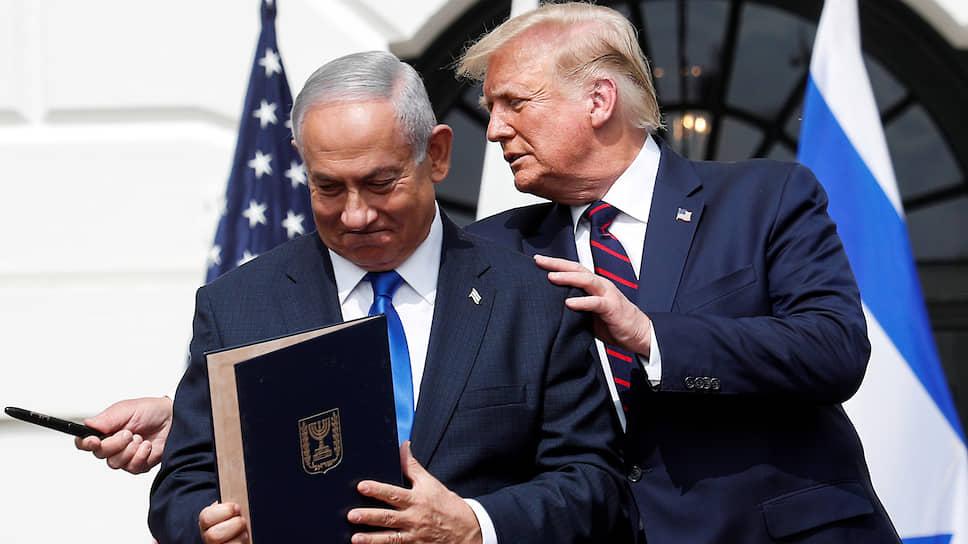Премьер-министр Израиля Биньямин Нетаньяху с президентом США Дональдом Трампом