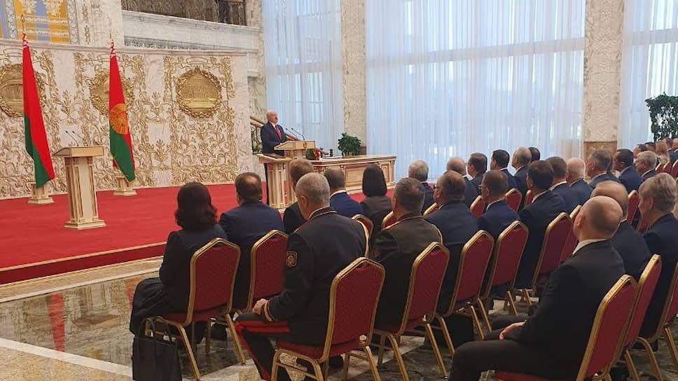 Александр Лукашенко на церемонии инаугурации