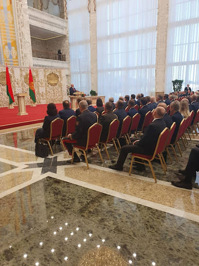 Кадр с церемонии инаугурации Александра Лукашенко
