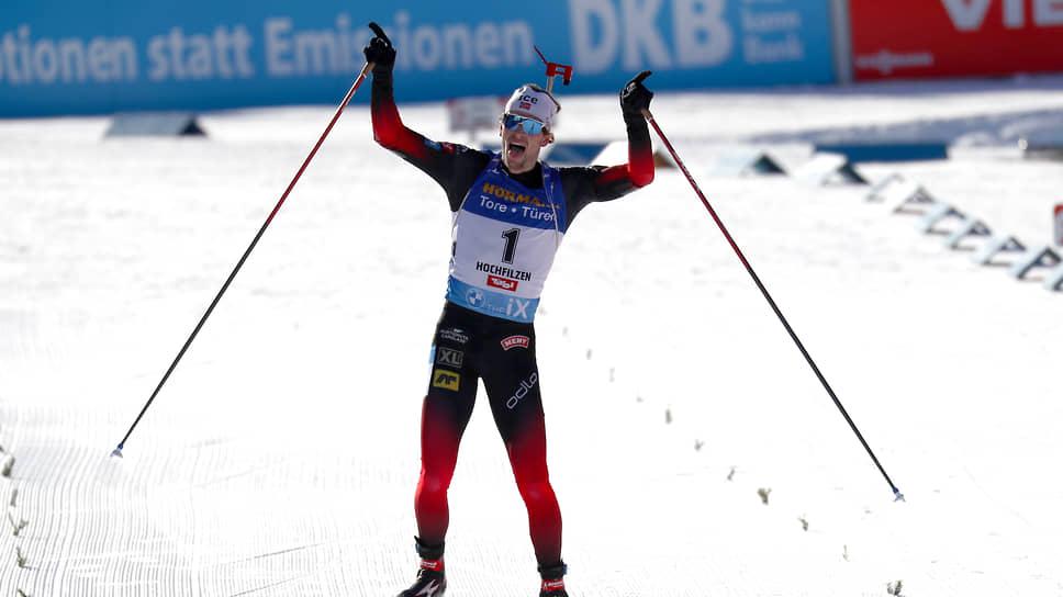 Норвежский биатлонист Стурла Легрейд