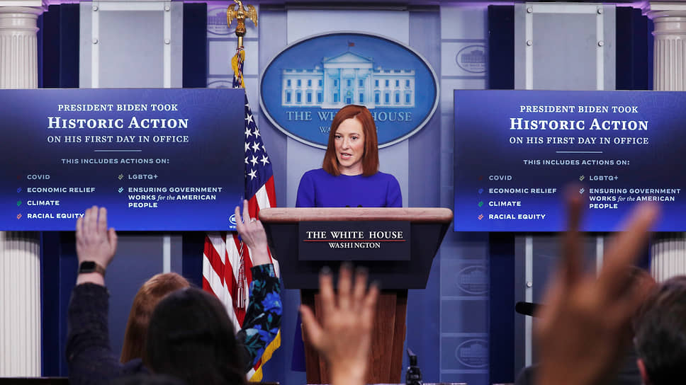 Пресс-секретарь Белого дома США Джен Псаки