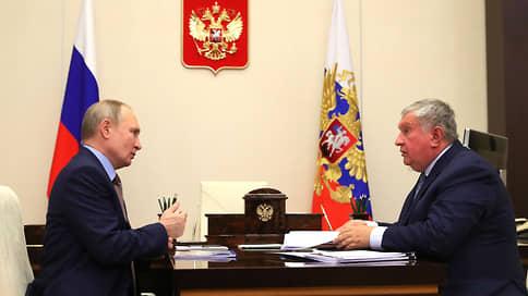 Сечин отчитался перед Путиным о результатах Роснефти за год
