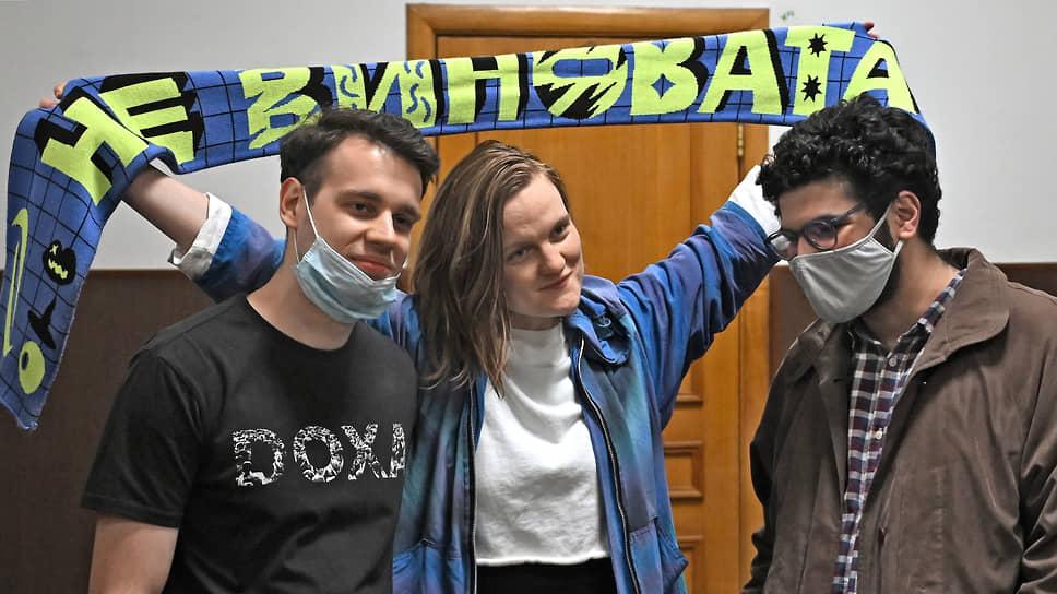 Слева направо: редакторы Вадим Метелкин, Наталья Тышкевич и главный редактор журнала DOXA Армен Арамян