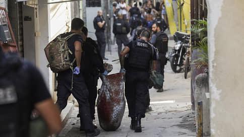 В Рио-де-Жанейро в перестрелке полиции с преступниками погибли 23 человека