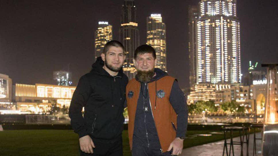 Хабиб Нурмагомедов (слева) и Рамзан Кадыров