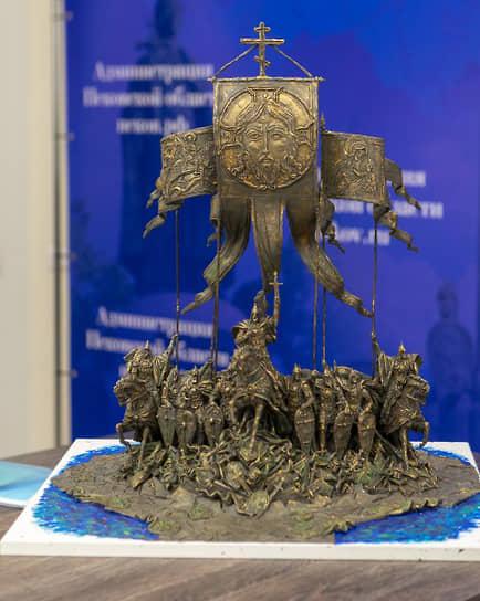 Макет скульптурной композиции, представленный в ноябре 2020 года