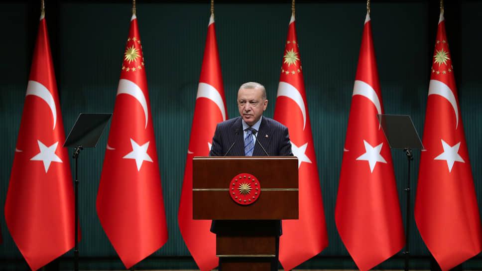 Реджеп Тайип Эрдоган во время выступления в Анкаре 17 мая