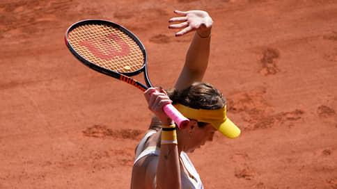 Павлюченкова впервые вышла в финал Roland Garros