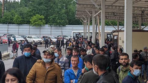 Мигранты рассказали о многочасовых очередях в миграционном центре в Путилково