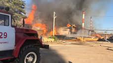 Во Владимирской области произошел крупный пожар в цехах по производству пиломатериалов