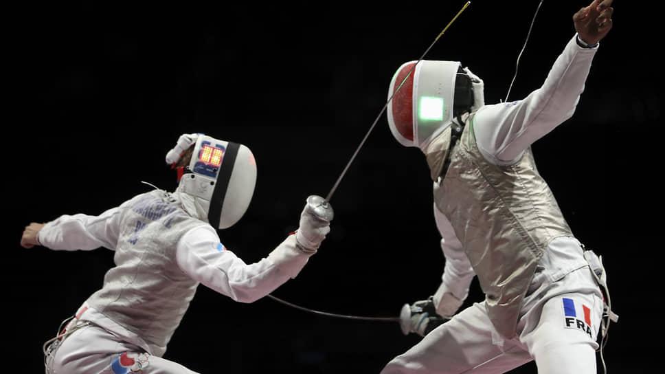 Российский и французский спортсмен Антон Бородачев (слева) и Энцо Лефорт