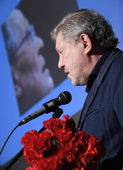Сооснователь партии «Яблоко» Григорий Явлинский на церемонии прощания