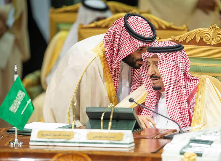 Наследный принц Саудовской Аравии Мохаммед бин Салман и король Саудовской Аравии Салман бин Абдулазиз аль Сауд
