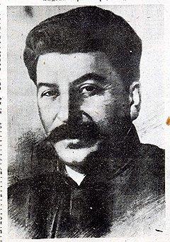 Портрет Иосифа Сталина к статье «Беседа Сталина с писателем Эмилем Людвигом»