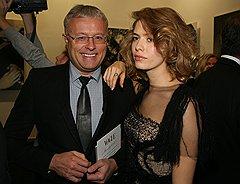 Банкир Лебедев — яркий персонаж столичной светской жизни, его часто видят в обществе деятелей искусства и шоу-бизнеса, например модели Елены Перминовой