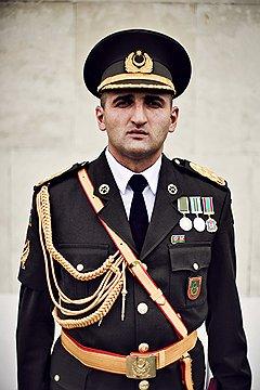 Эльшад Рустамов, майор. Дед воевал в Сталинграде